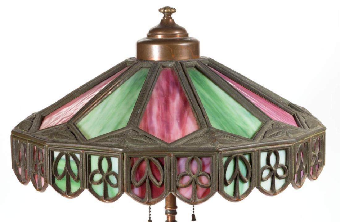 PITTSBURGH BRONZE FIGURAL STUMP LAMP BASE - 2