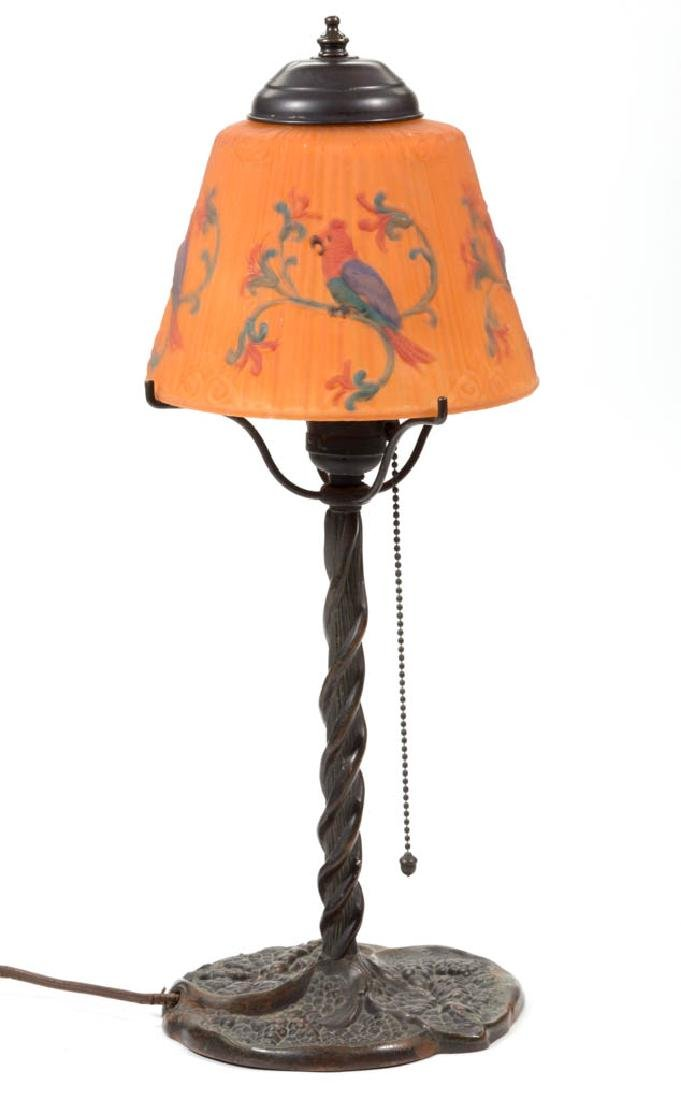 PAIRPOINT BRONZE TWISTED STEM LAMP BASE