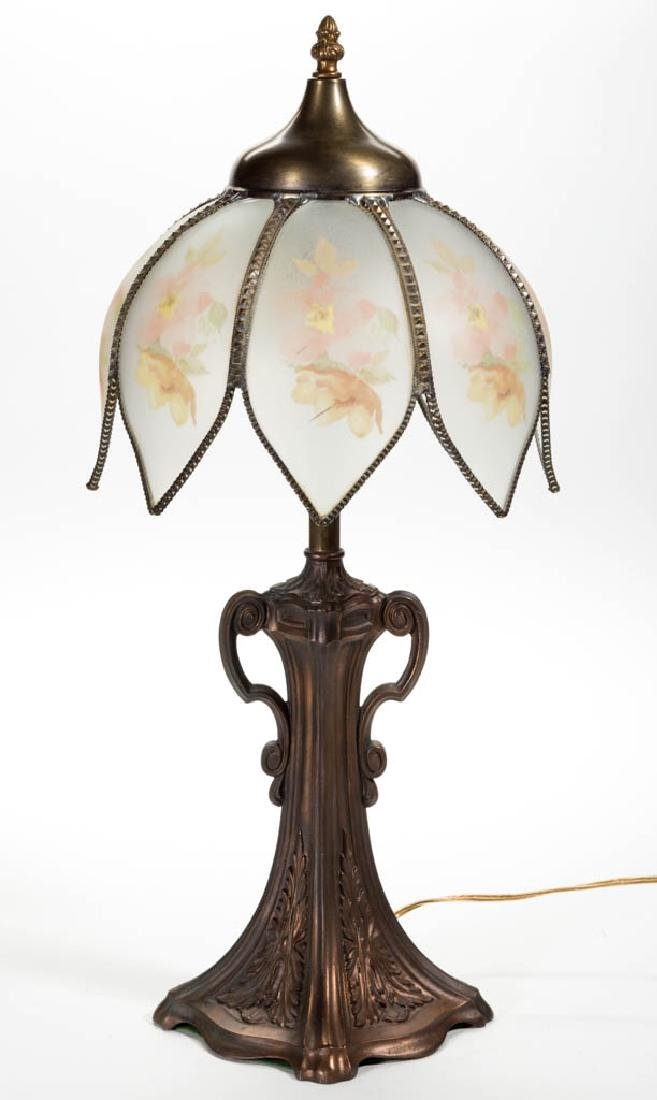 EDWARD MILLER CAST-METAL TABLE LAMP BASE