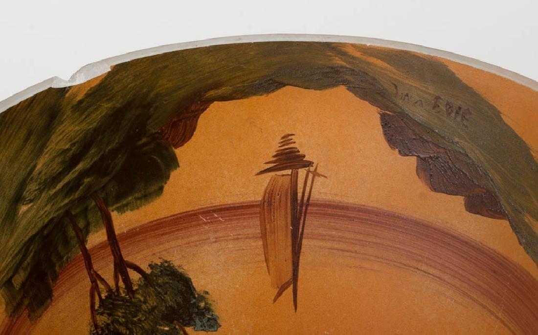HANDEL REVERSE PAINTED GLASS TABLE LAMP - 4