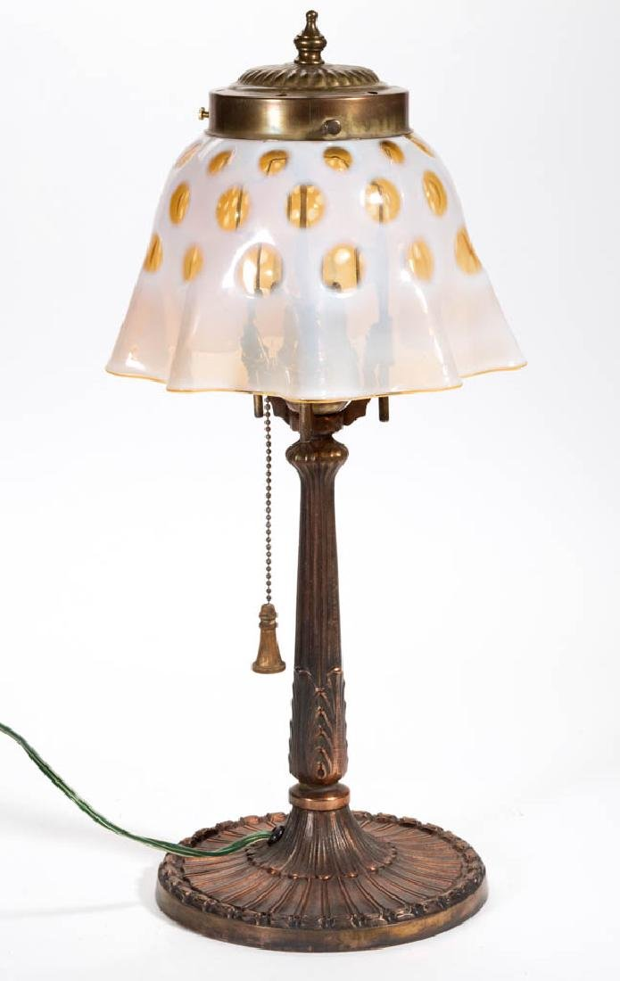 COPPER FINISHED METAL TABLE LAMP