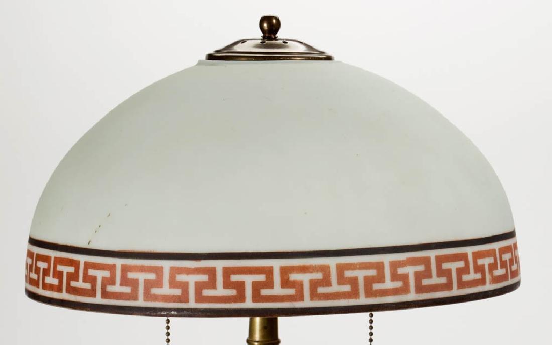ORANGE MOTTLED CERAMIC LAMP BASE - 2
