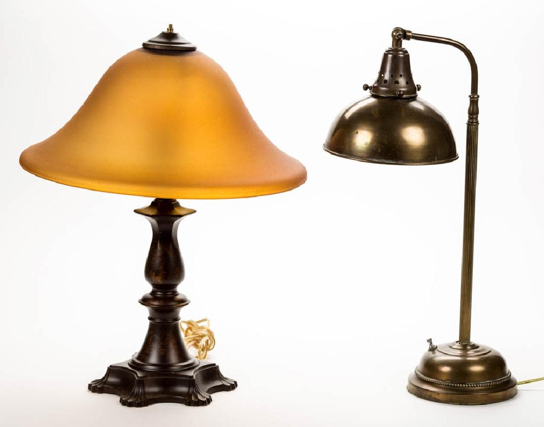 ASSORTED ELECTRIC LAMPS, LOT OF TWO