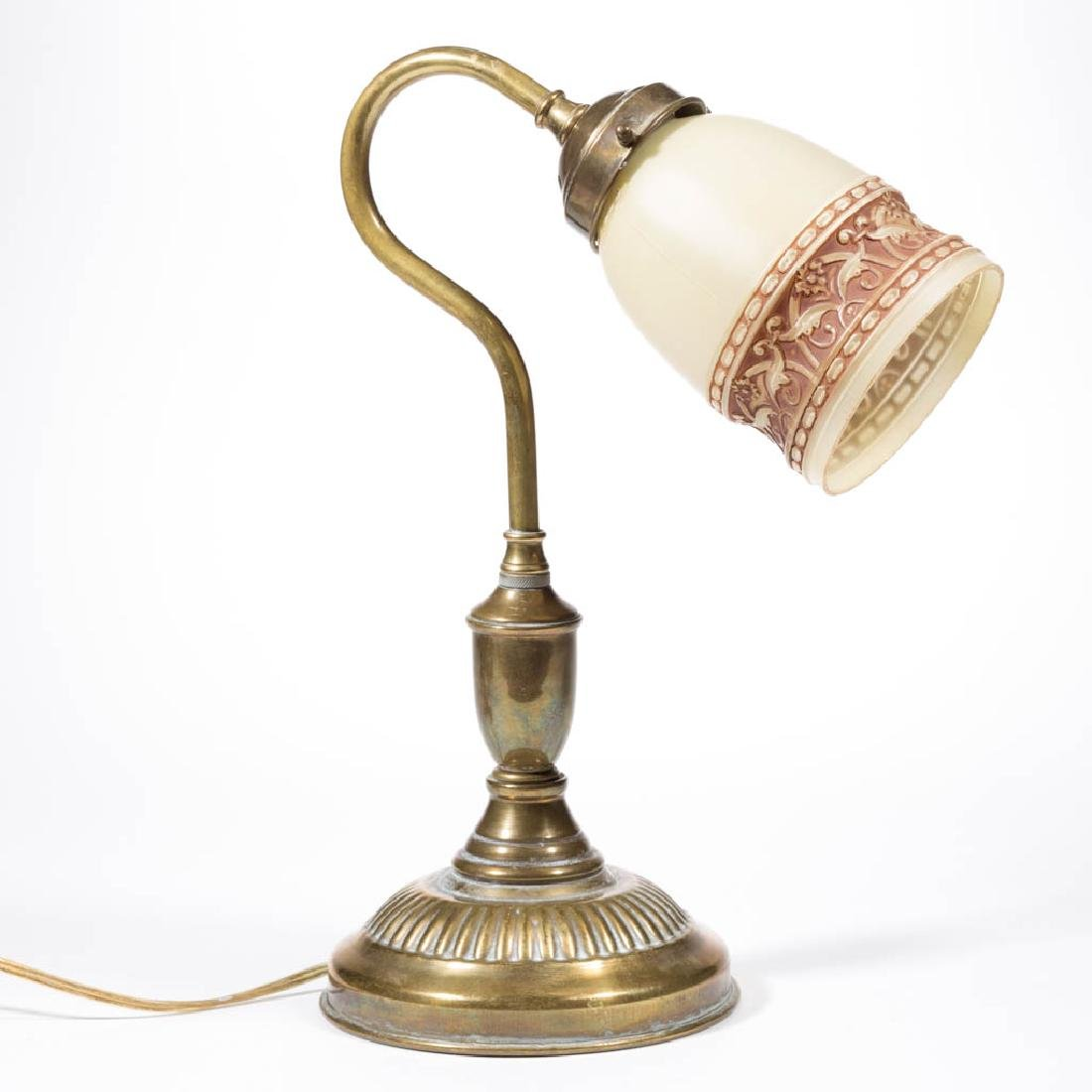 BRASS GOOSE NECK DESK LAMP