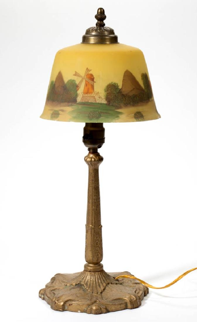 PITTSBURGH ACANTHUS AND SEASHELL METAL LAMP BASE