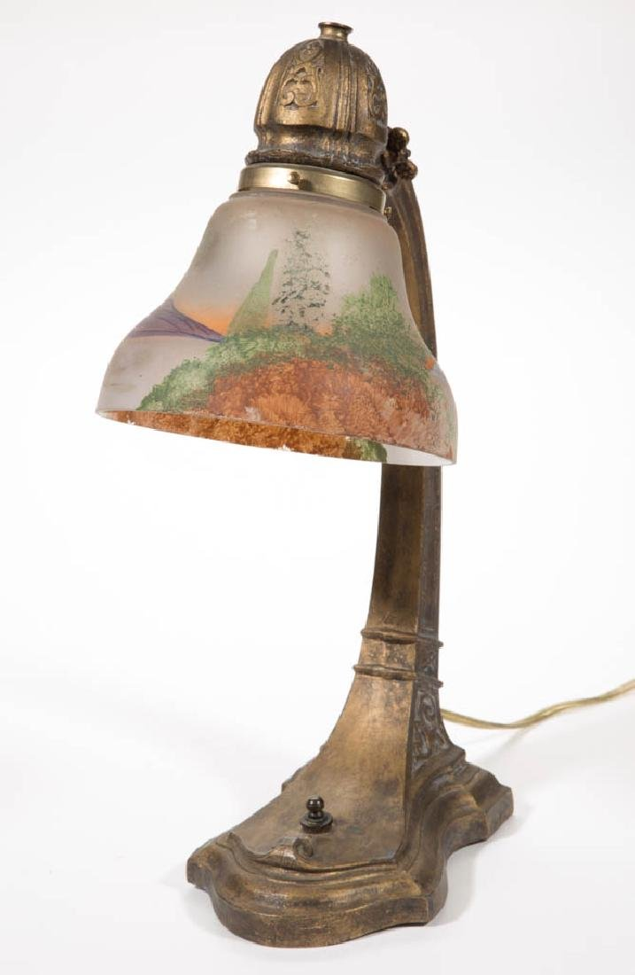 UNIDENTIFIED CAST-METAL DESK LAMP - 2