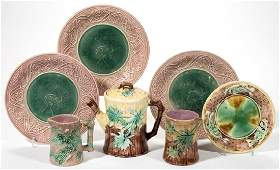 AMERICAN ETRUSCAN MAJOLICA CERAMIC ARTICLES LOT OF