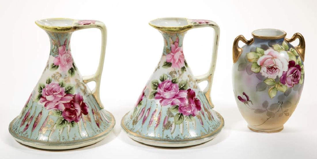 NIPPON PORCELAIN ARTICLES, LOT OF THREE