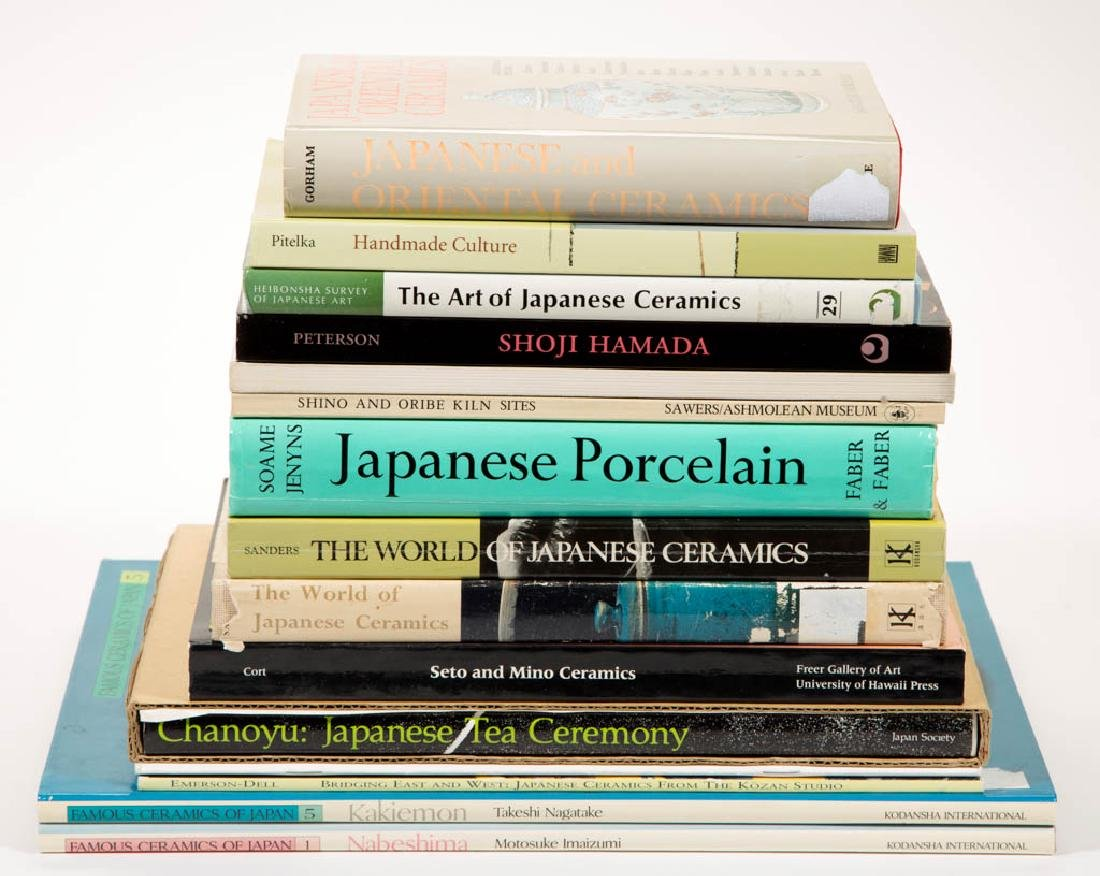 JAPANESE CERAMICS AND RELATED REFERENCE VOLUMES, LOT OF