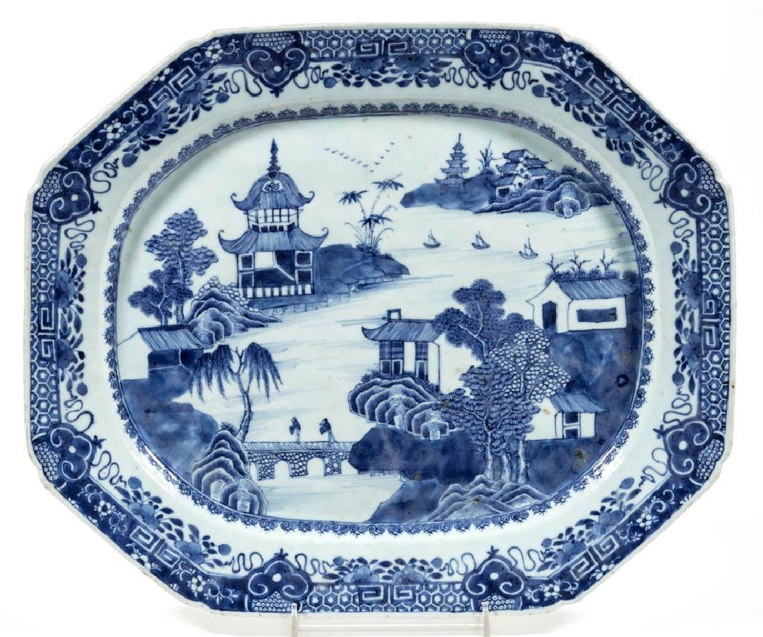 CHINESE EXPORT NANKING / CANTON PORCELAIN PLATTER