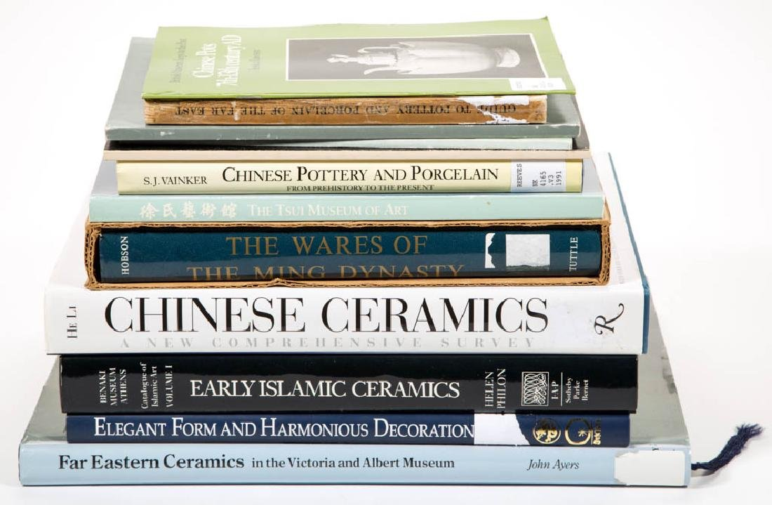 CHINESE / ASIAN AND OTHER CERAMICS REFERENCE VOLUMES,