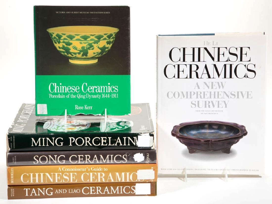 CHINESE CERAMICS REFERENCE VOLUMES, LOT OF SIX