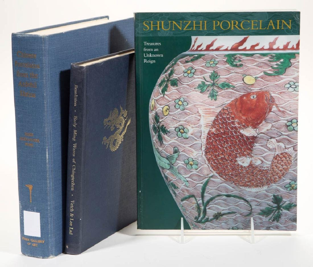 CHINESE CERAMICS REFERENCE VOLUMES, LOT OF THREE