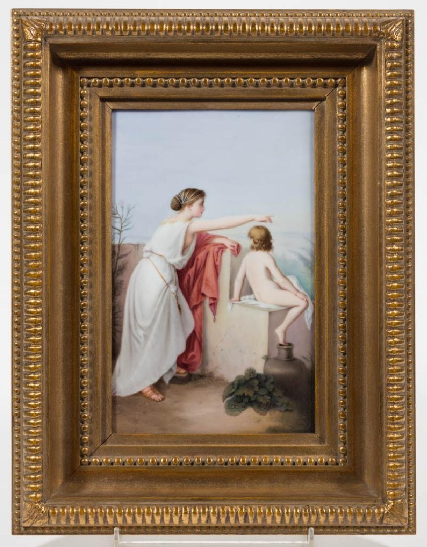 GERMAN KPM PORCELAIN PLAQUE