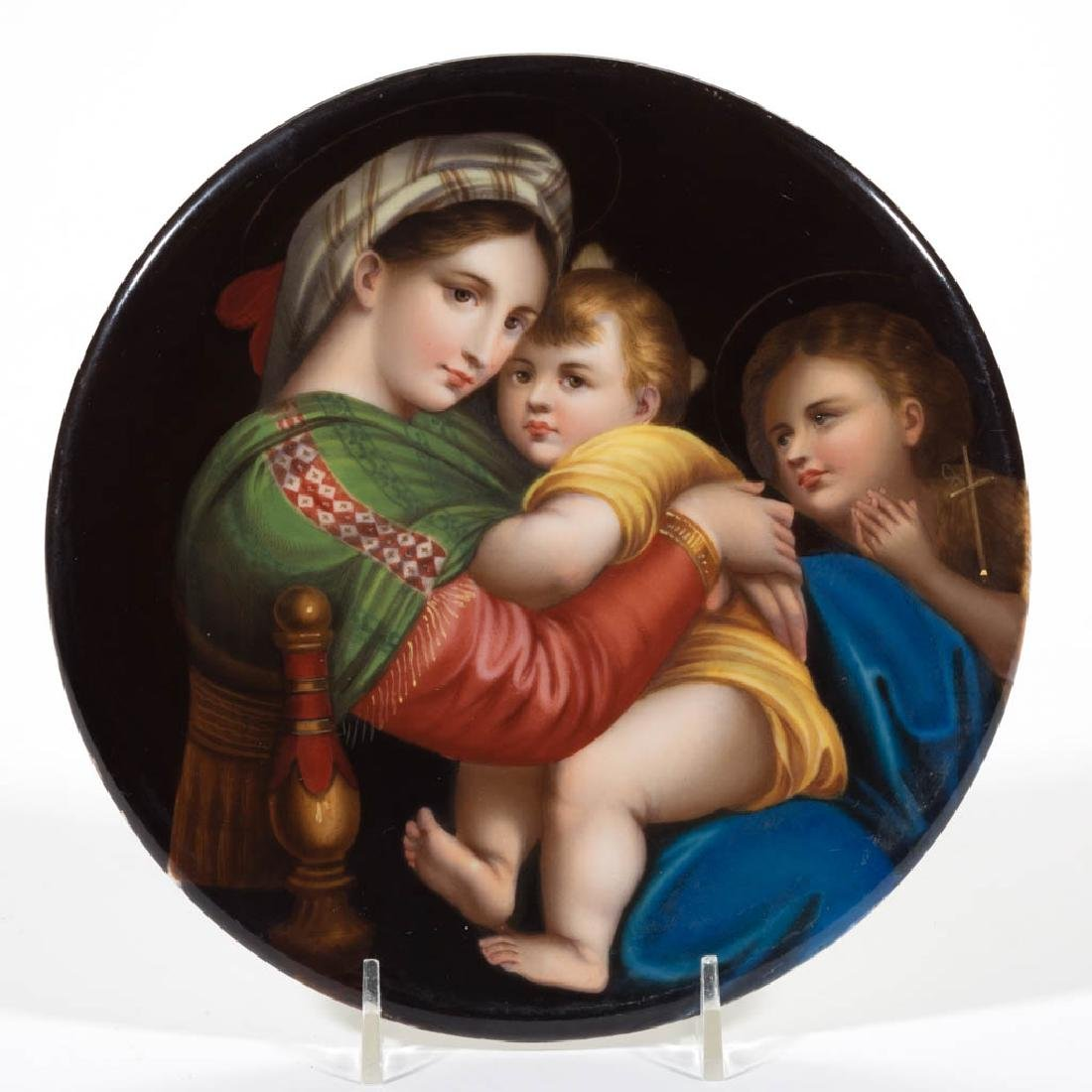 GERMAN PORCELAIN PLAQUE
