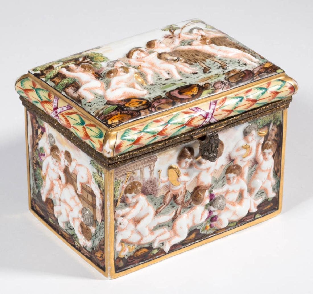 CONTINENTAL CAPODIMONTE PORCELAIN LIDDED BOX