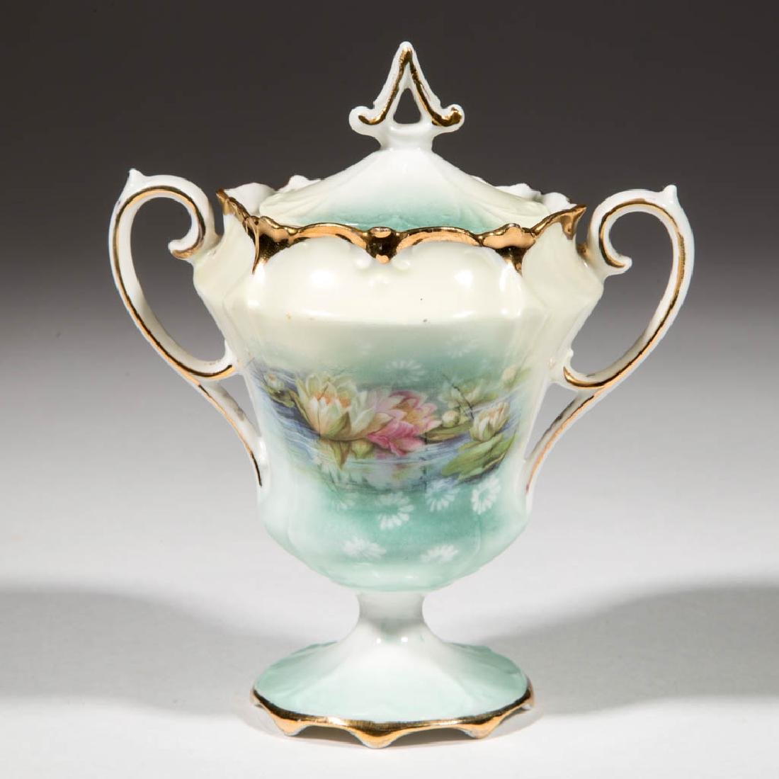 R.S. PRUSSIA CERAMIC SUGAR BOWL
