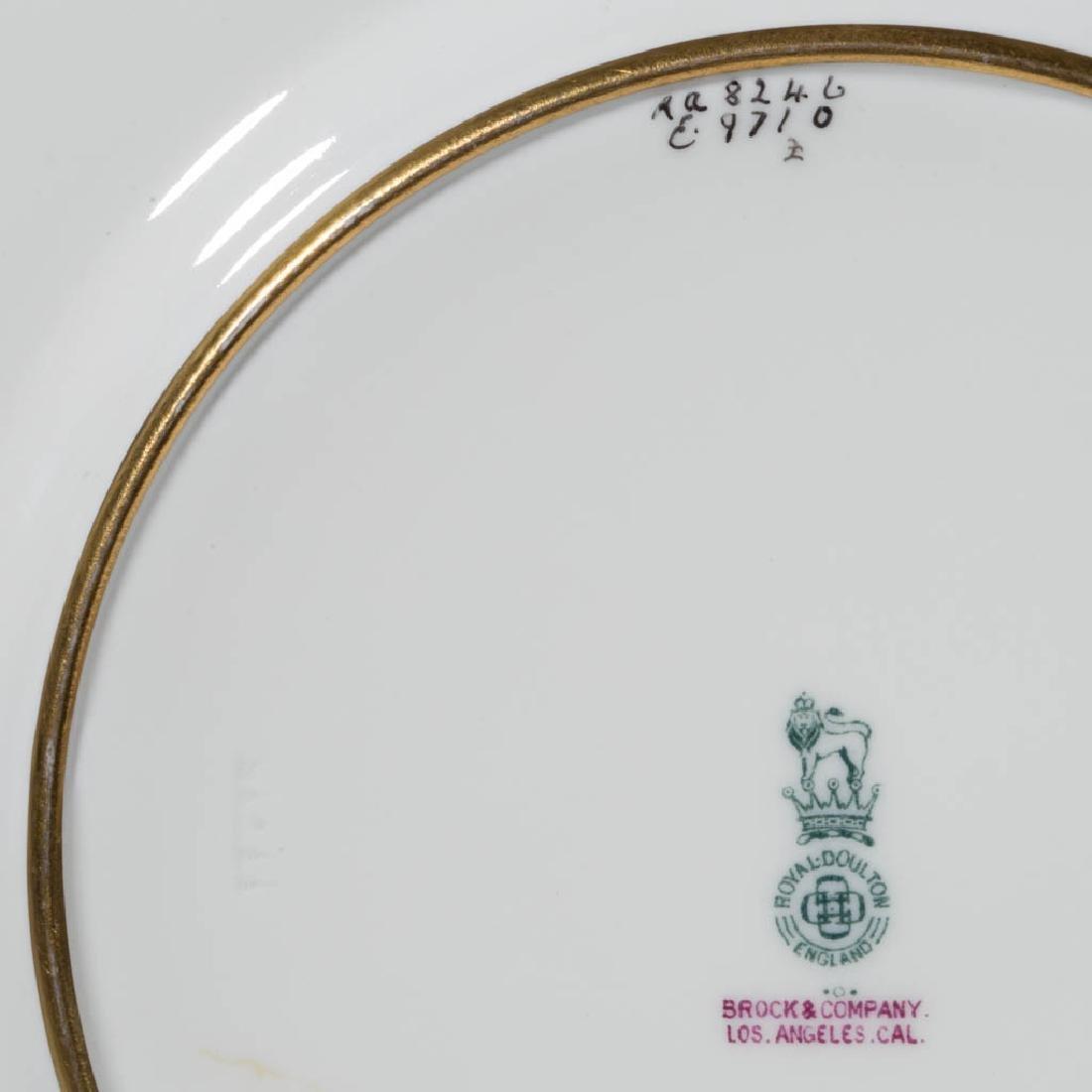 ENGLISH ROYAL DOULTON CERAMIC DINNER PLATES, SET OF 12 - 2