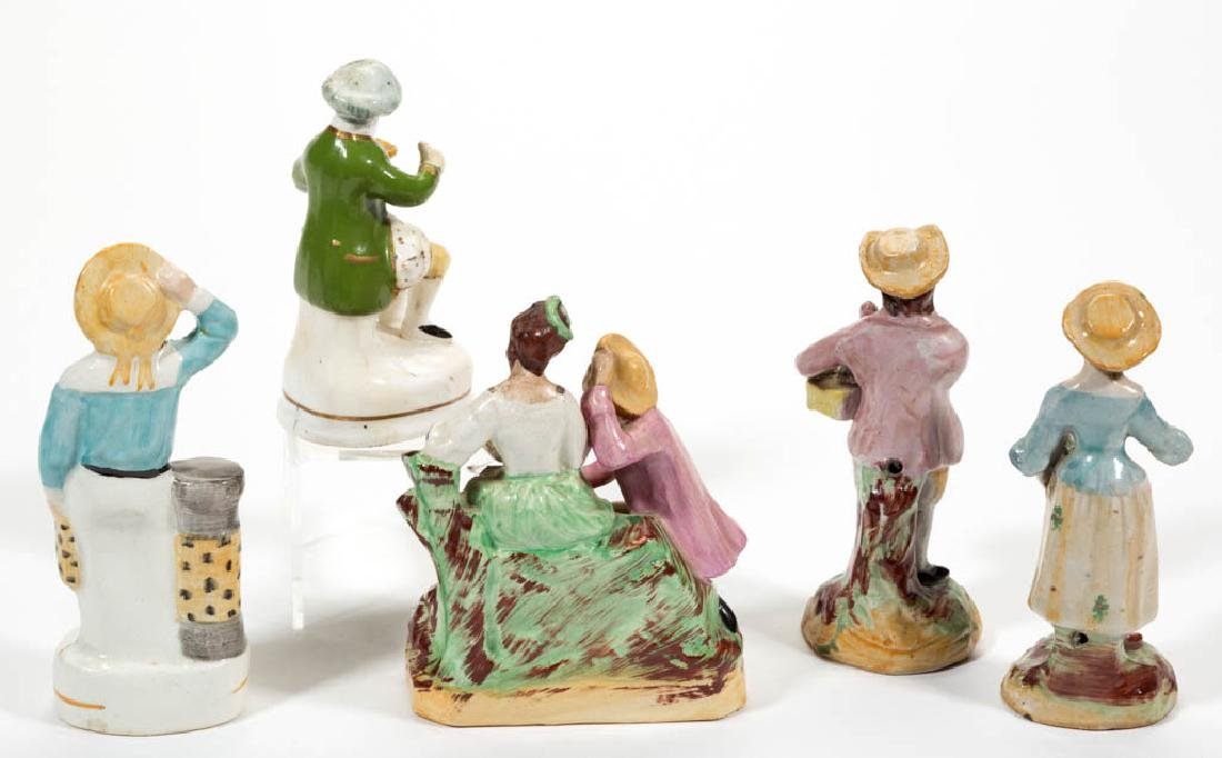 ENGLISH CERAMIC FIGURES, LOT OF FIVE - 2