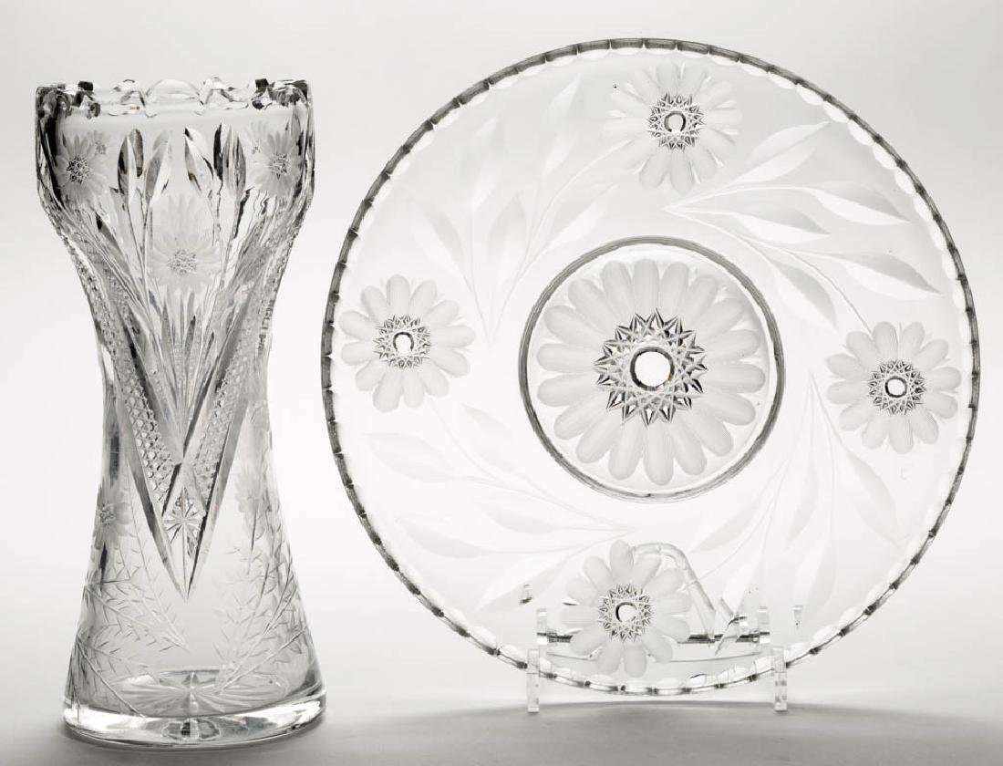 ASSORTED CUT GLASS ARTICLES, LOT OF TWO