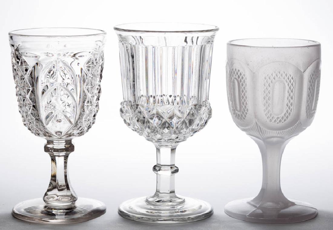 ASSORTED EAPG GOBLETS, LOT OF THREE