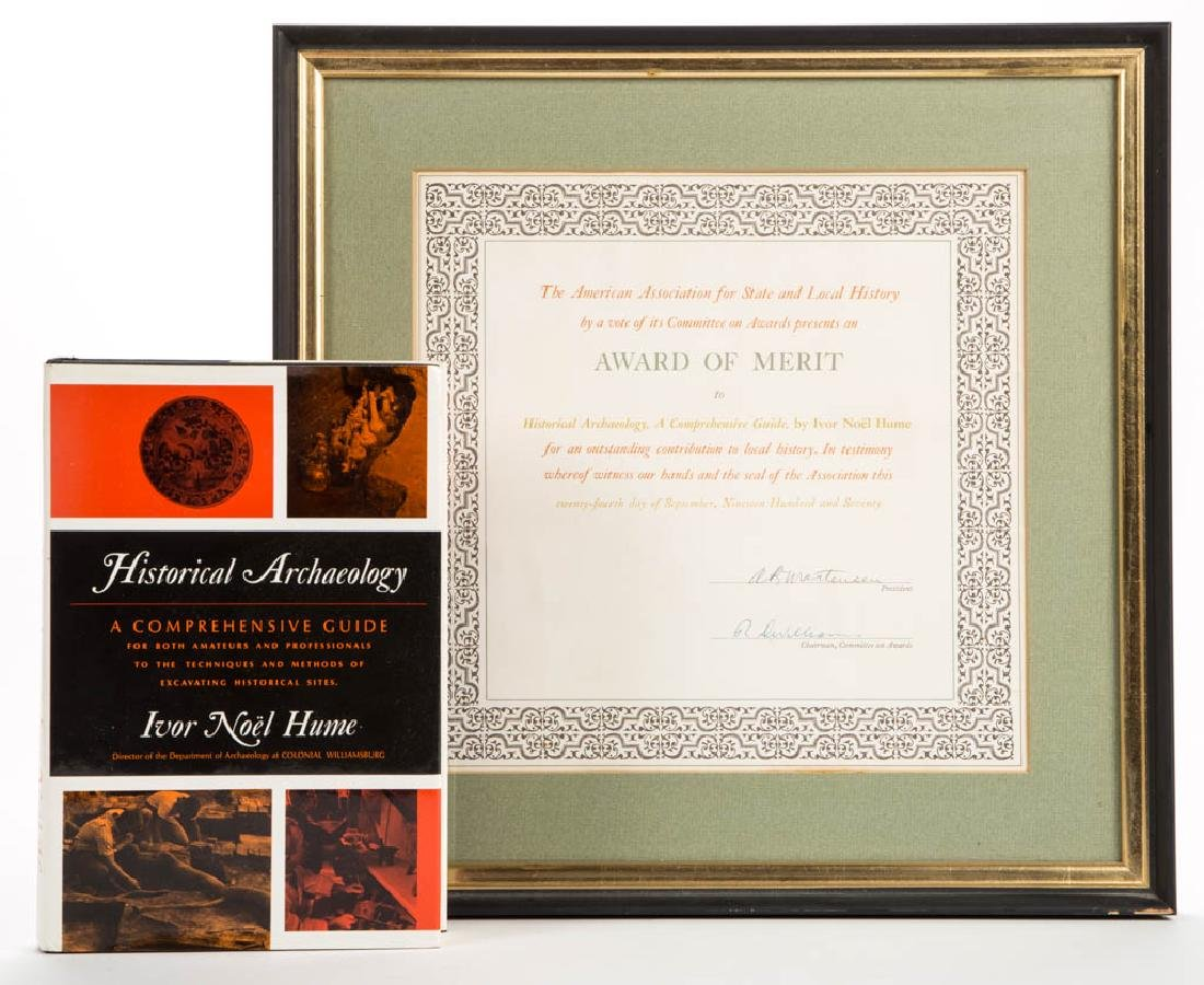 IVOR NOEL HUME PUBLICATION AND AWARD