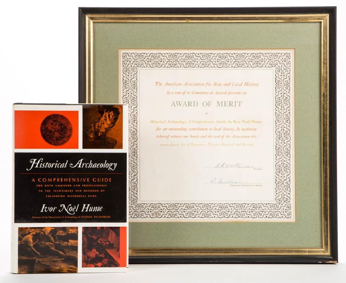IVOR NOEL HUME PUBLICATION AND AWARD