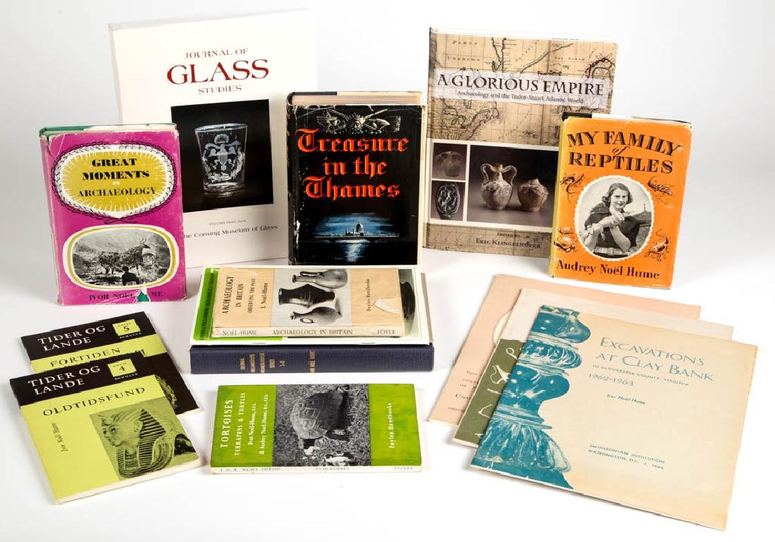 IVOR NOEL HUME / AUDREY NOEL HUME PUBLICATIONS, LOT OF