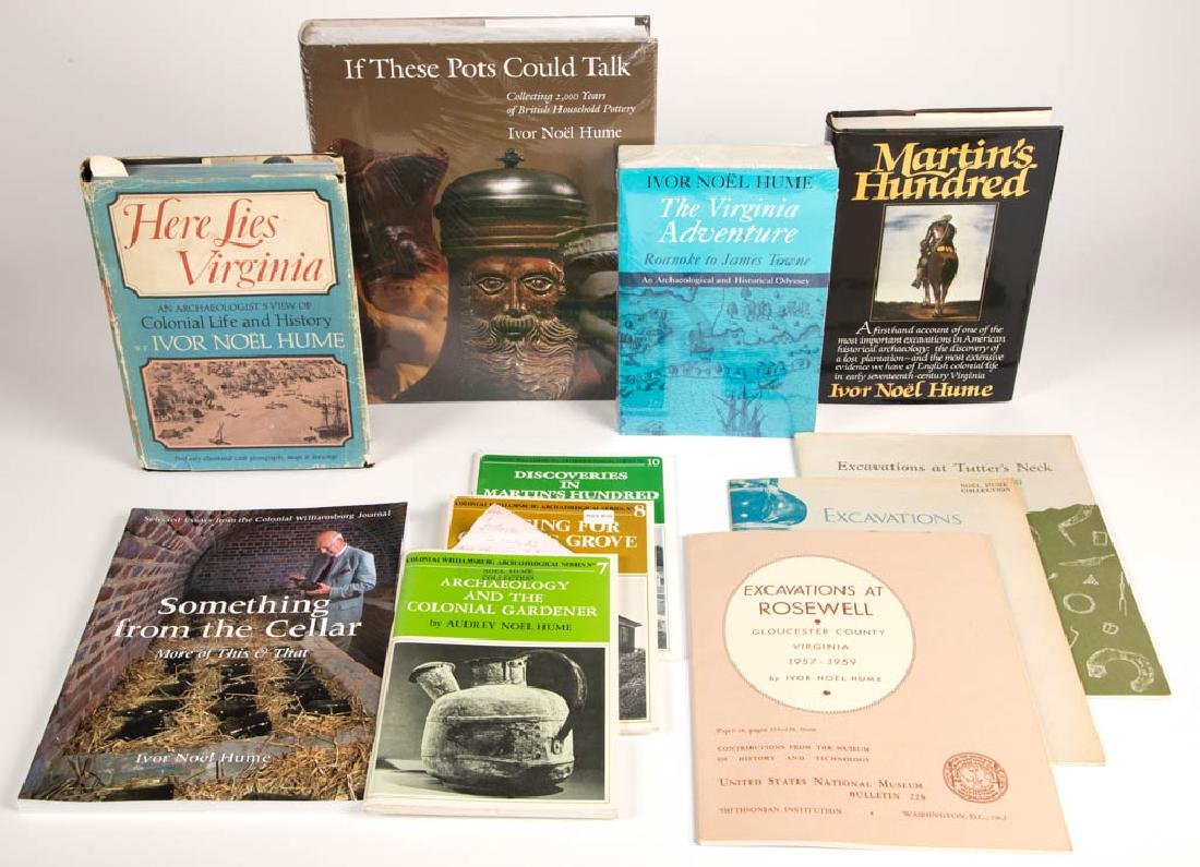 IVOR NOEL HUME PUBLICATIONS, LOT OF 11