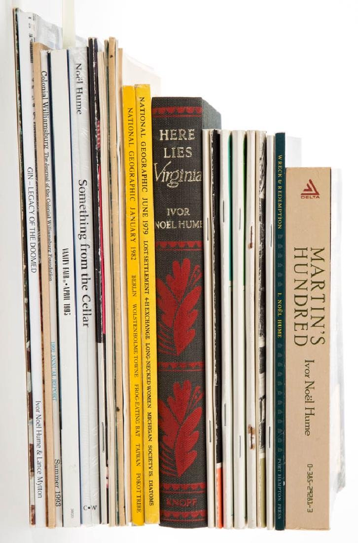 IVOR NOEL HUME PUBLICATIONS, LOT OF 24