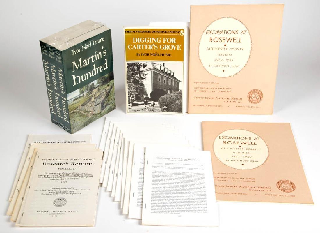 IVOR NOEL HUME PUBLICATIONS, LOT OF 20
