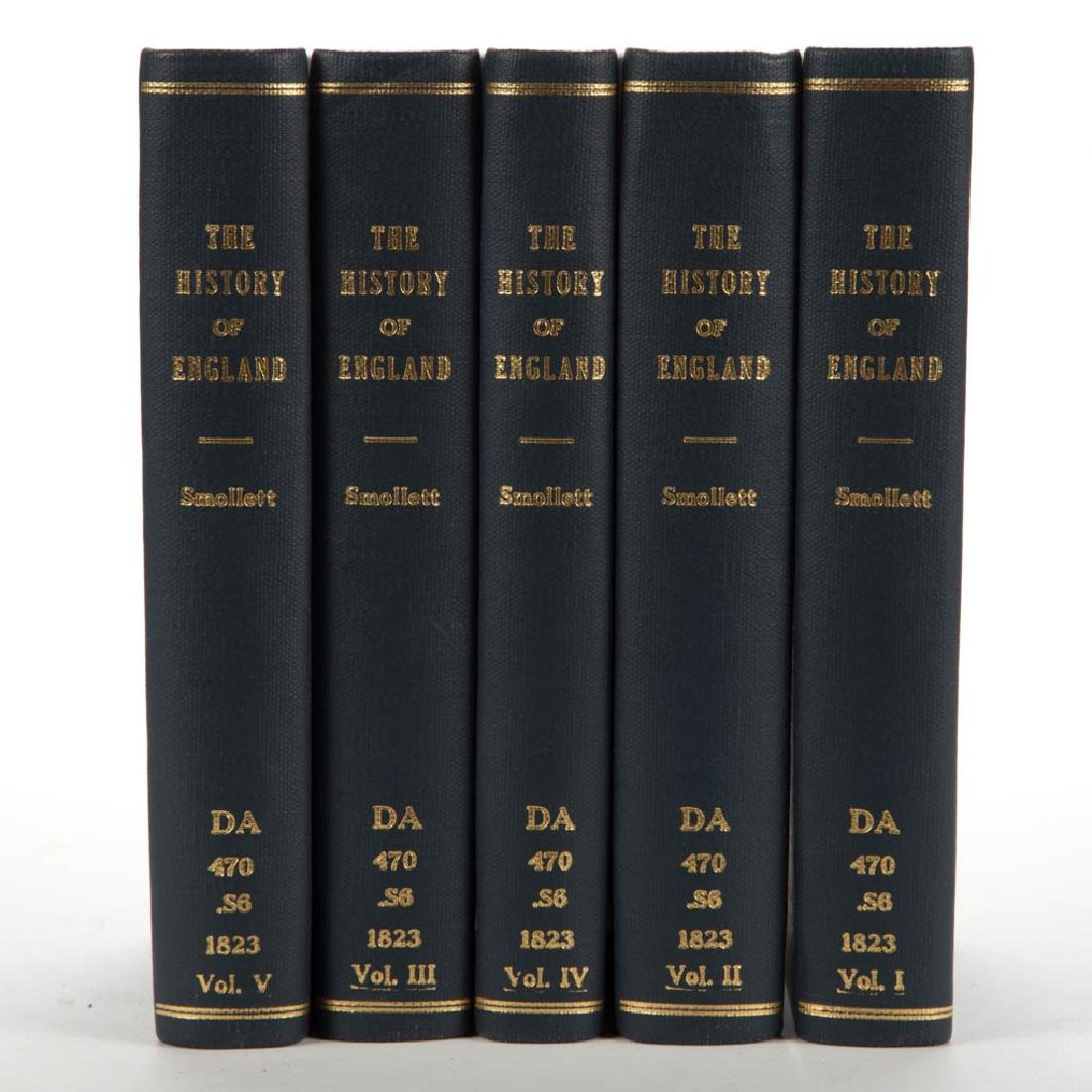 ENGLISH HISTORICAL VOLUMES, SET OF FIVE