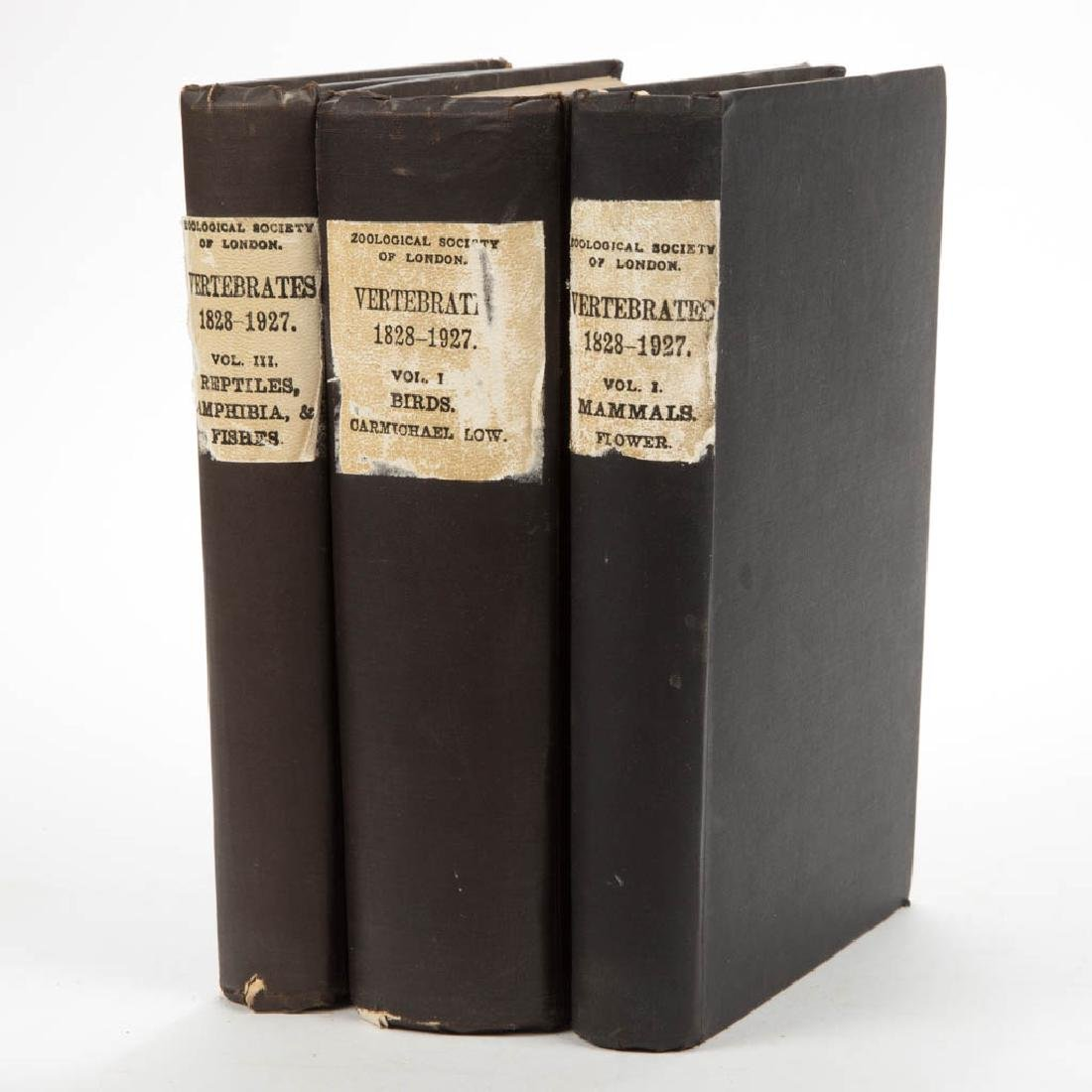 ENGLISH HISTORICAL ZOOLOGICAL VOLUMES, SET OF THREE