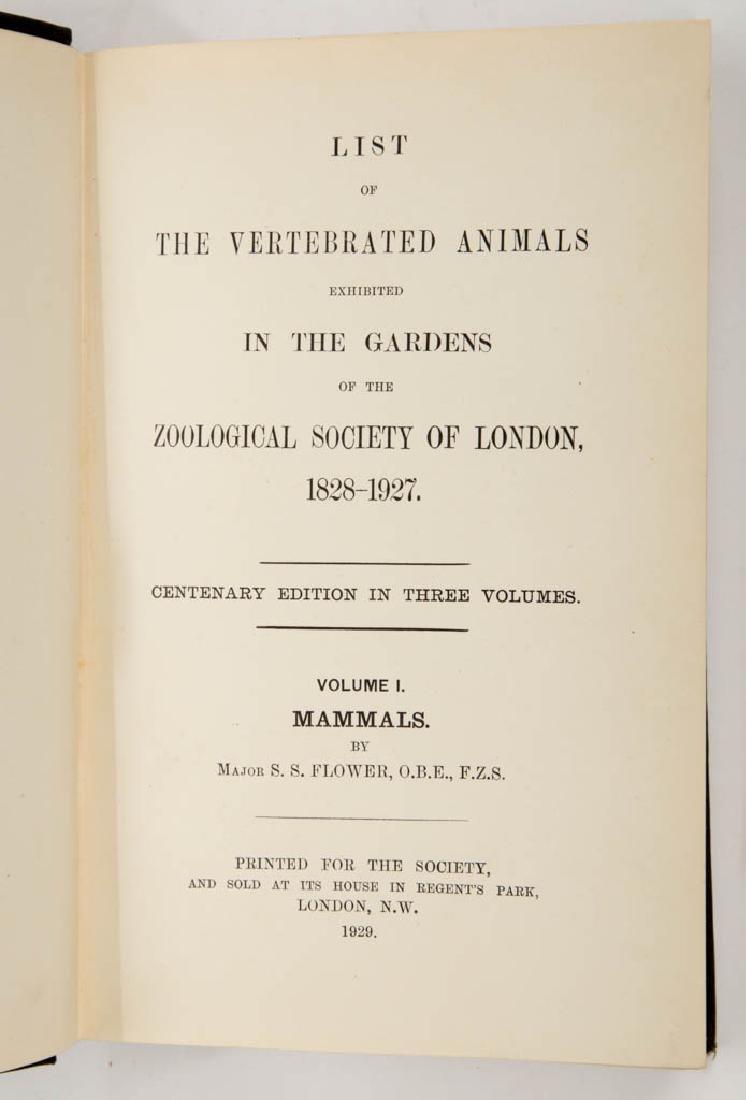 ENGLISH HISTORICAL ZOOLOGICAL VOLUMES, SET OF THREE - 2