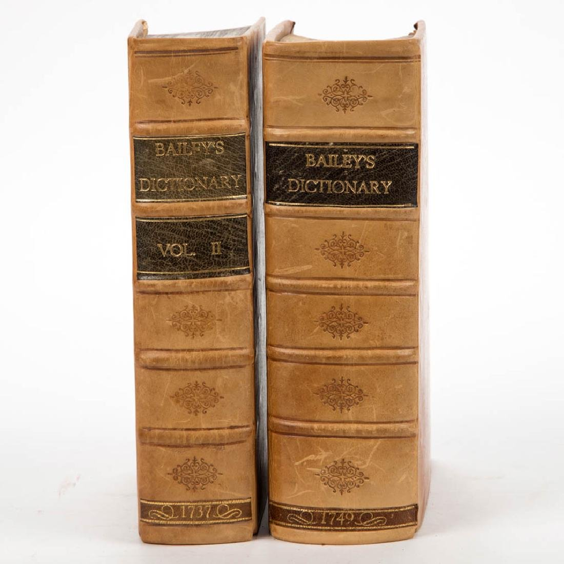 ENGLISH HISTORICAL DICTIONARY VOLUMES, LOT OF TWO