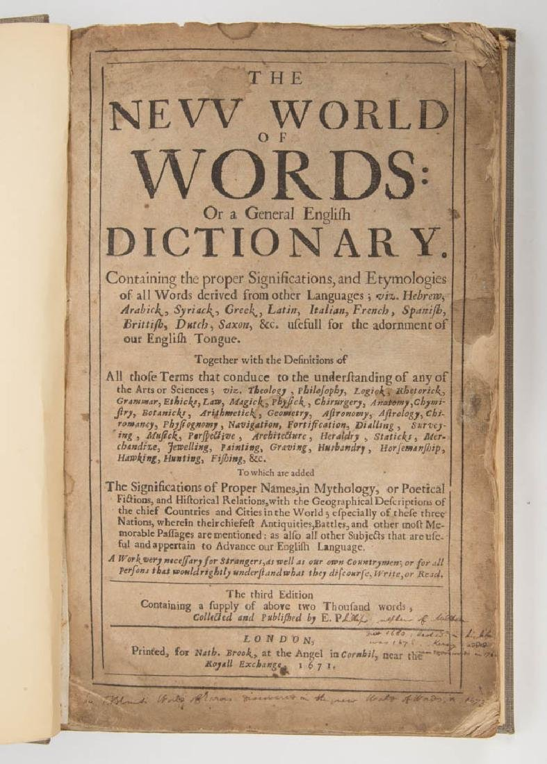 BRITISH HISTORICAL DICTIONARY VOLUME