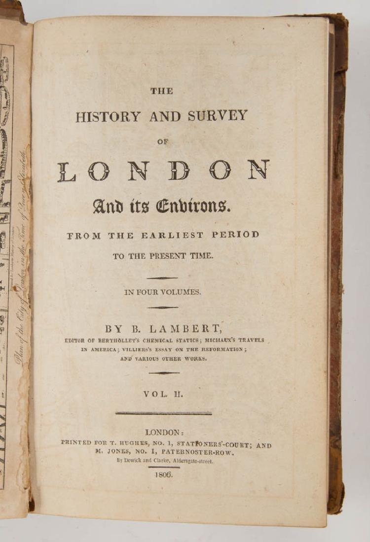 BRITISH HISTORICAL LONDON SURVEY / TRAVEL VOLUMES, SET - 2