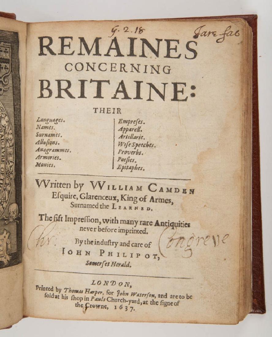 BRITISH HISTORICAL VOLUME