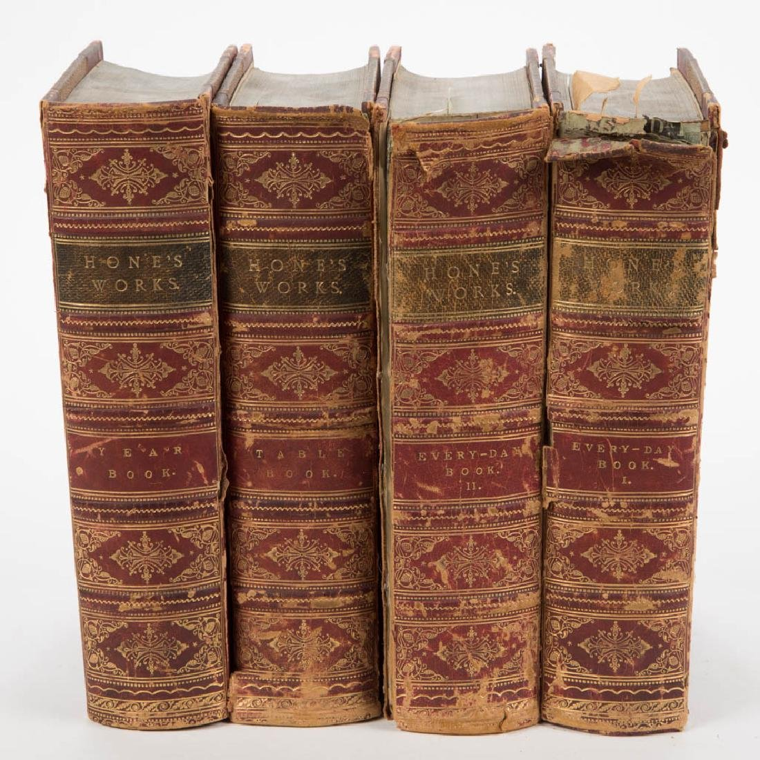 BRITISH HISTORICAL / PAST-TIME VOLUMES, SET OF FOUR