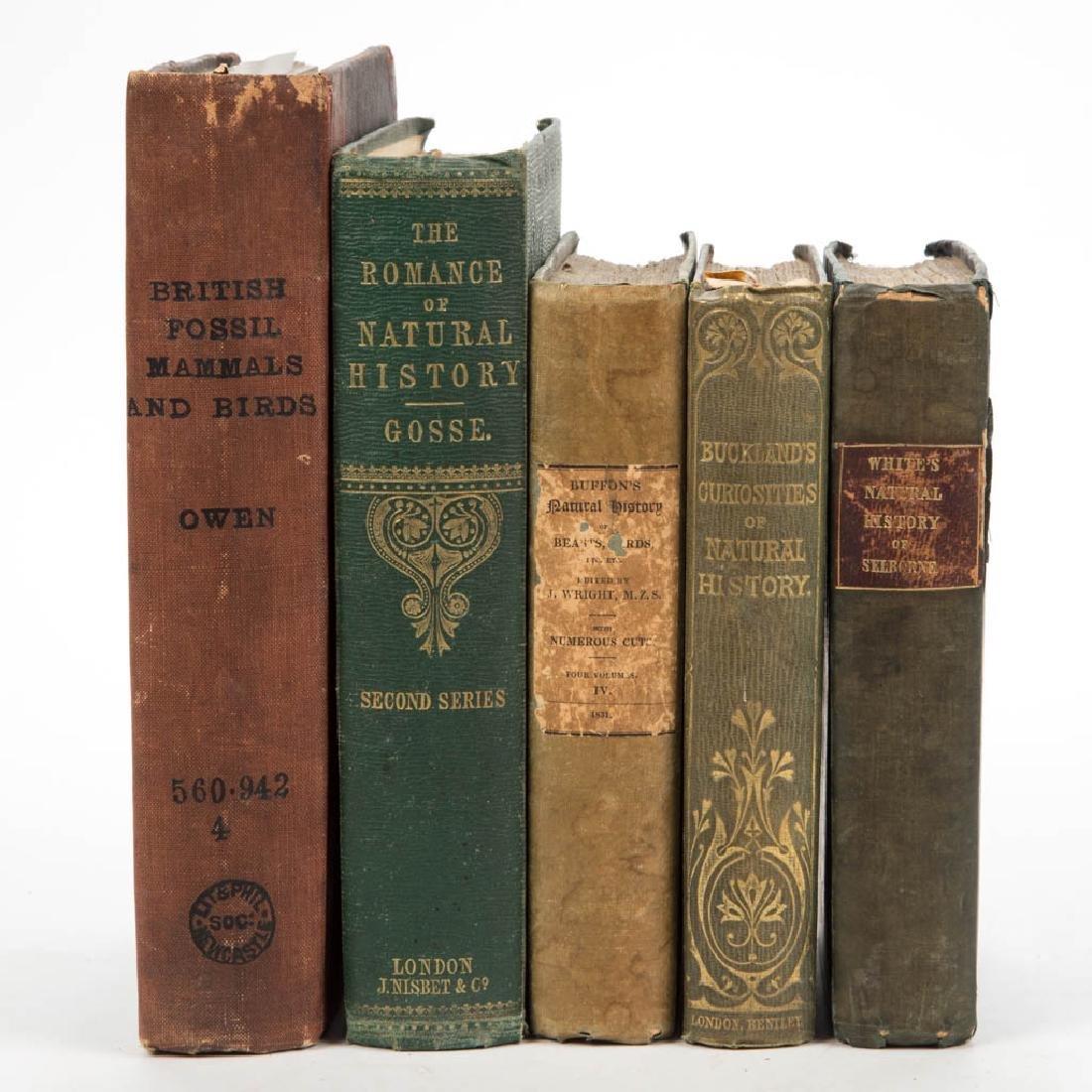 BRITISH HISTORICAL NATURAL HISTORY VOLUMES, LOT OF FIVE