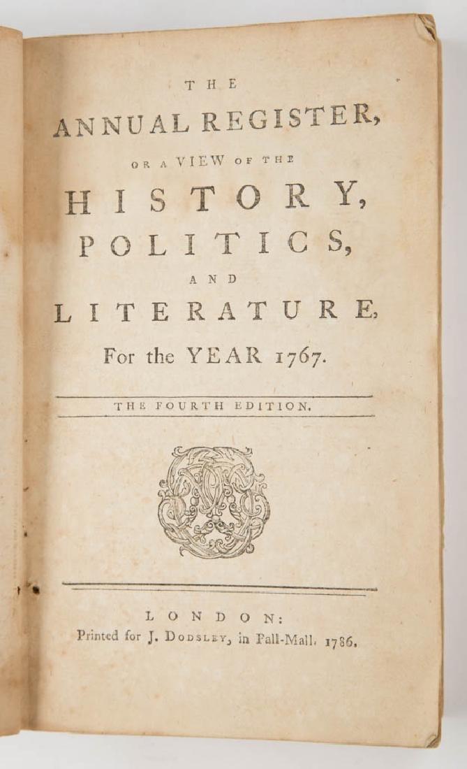 BRITISH HISTORICAL PERIODICAL / ANNUAL REGISTER VOLUMES - 2
