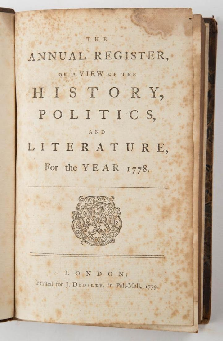 BRITISH HISTORICAL PERIODICAL / ANNUAL REGISTER VOLUMES - 5
