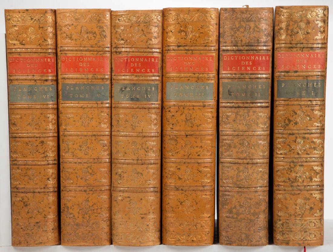 FRENCH SCIENTIFIC VOLUMES, SET OF SIX
