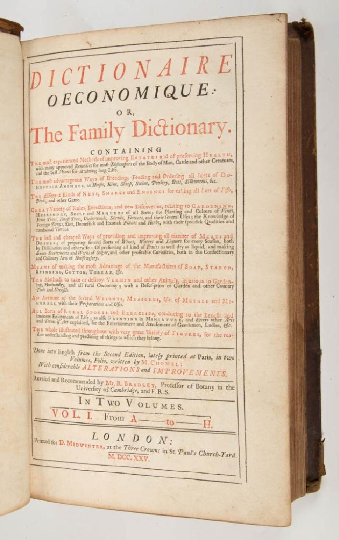 BRITISH / FRENCH HISTORICAL REFERENCE / DICTIONARY