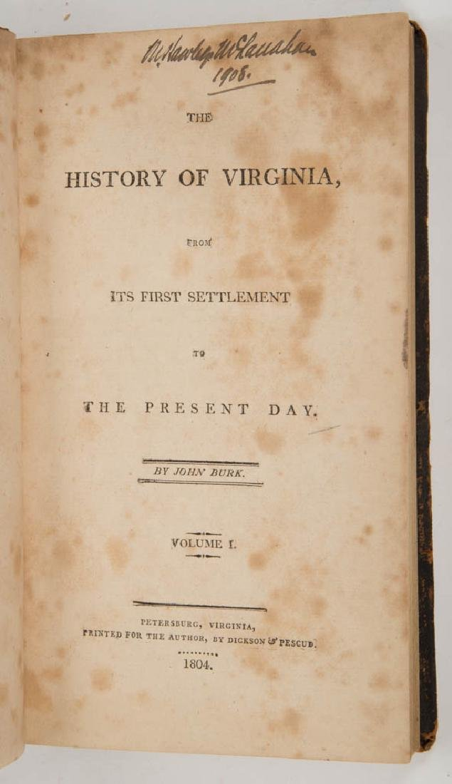 AMERICAN HISTORICAL VIRGINIA HISTORY VOLUMES, SET OF - 2