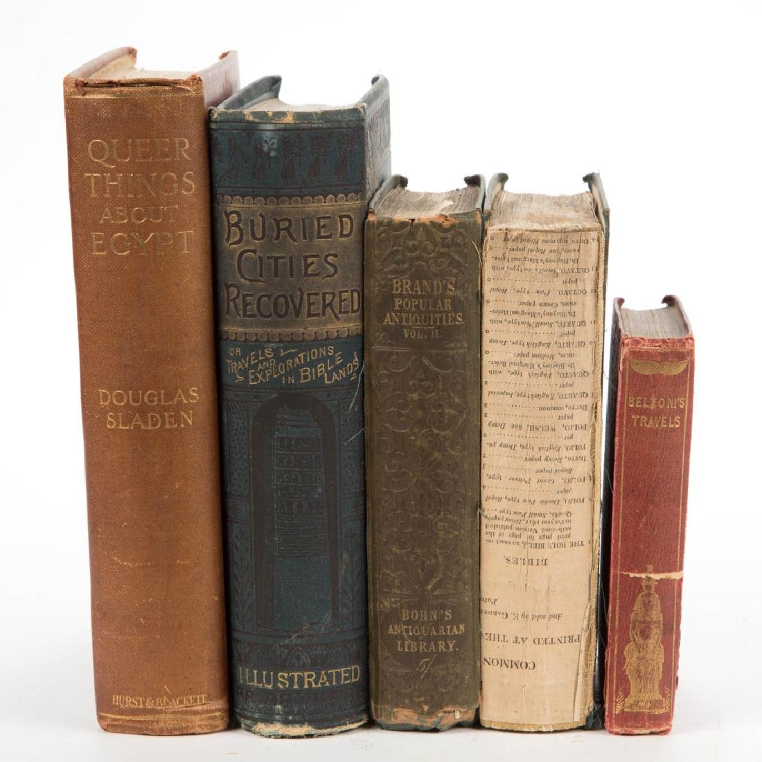 ANTIQUITIES / ANCIENT HISTORY VOLUMES, LOT OF FIVE