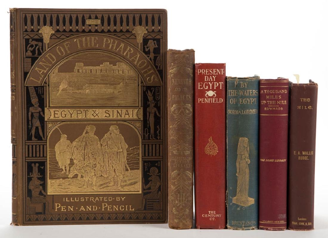 ANTIQUITIES AND RELATED HISTORICAL VOLUMES, LOT OF SIX