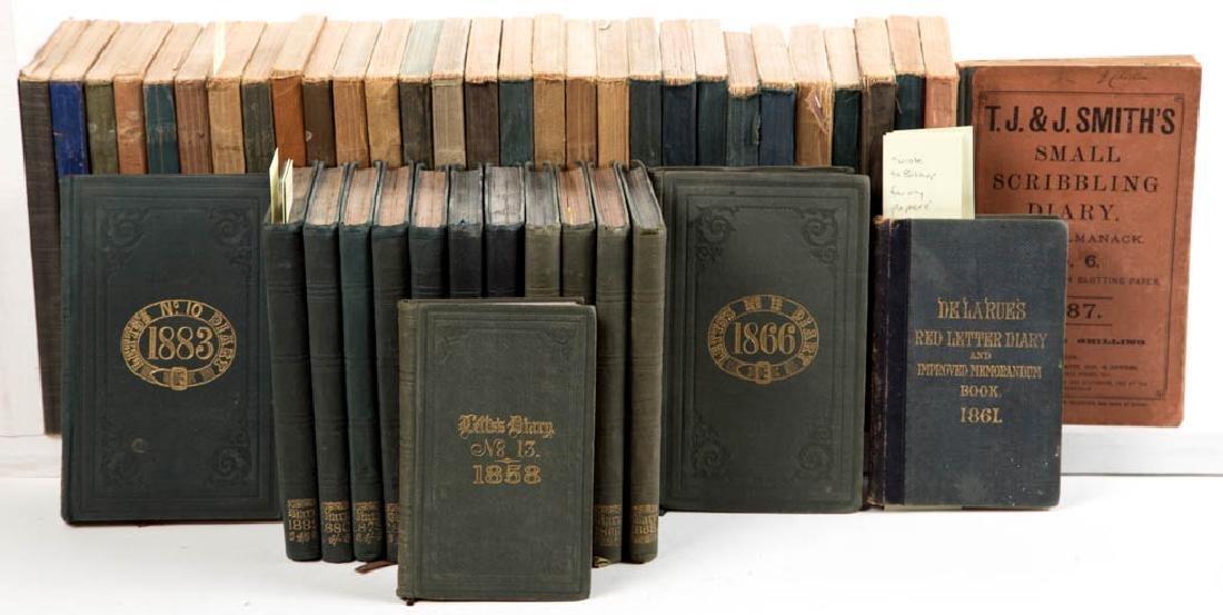 ENGLISH SURREY COUNTY VICAR MANUSCRIPT JOURNALS /