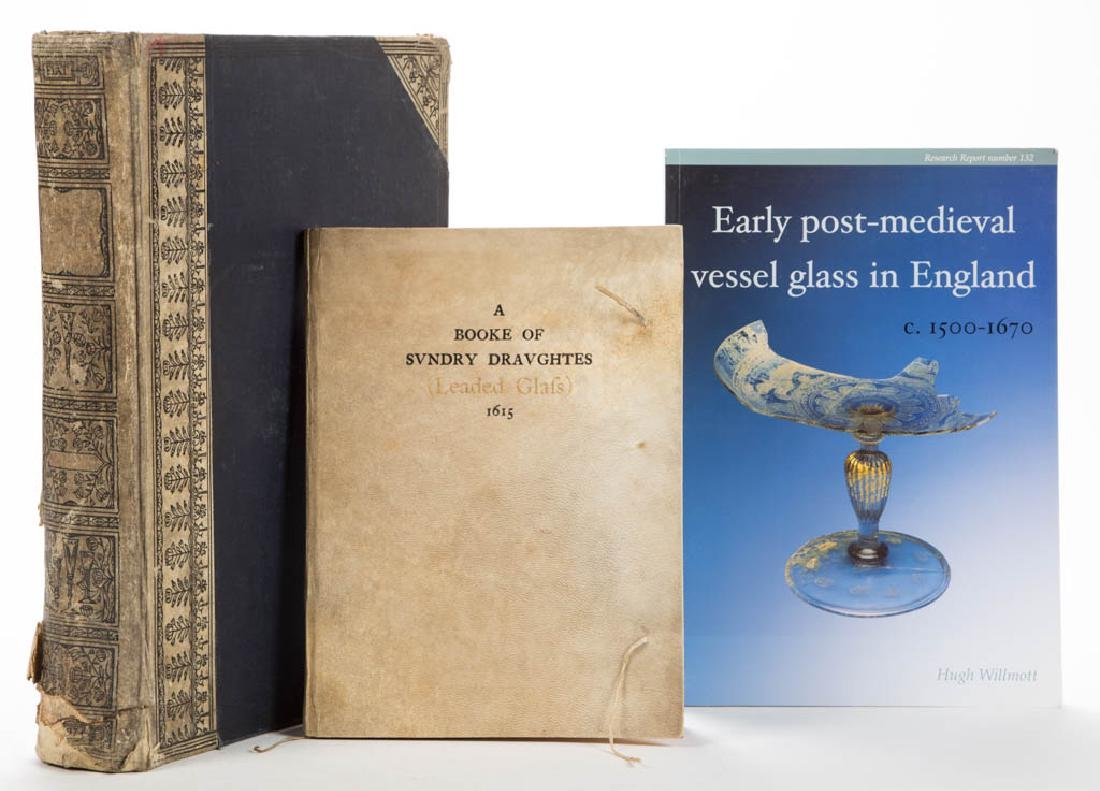 ENGLISH GLASS REFERENCE VOLUMES, LOT OF THREE