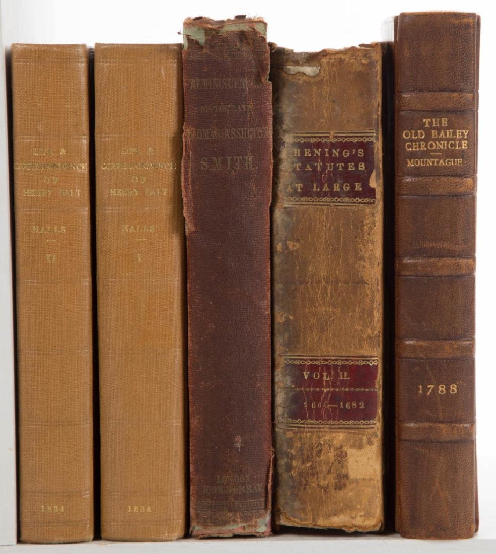ASSORTED HISTORICAL LEGAL / HISTORY VOLUMES, LOT OF